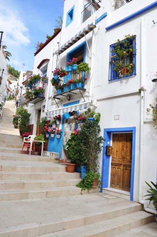 casas del Barrio de Santa Cruz de Alicante